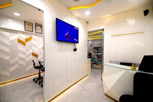 Reception area at Smile Please dental clinic, sector 17, vashi , Navi Mumbai.